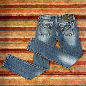 Barely worn Miss Me Blue Embellished skinny jeans